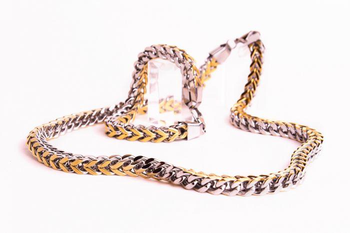 золотая цепочка женская со знаком бесконечности